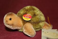 "STEIFF GERMANY  5"" MOHAIR TROTTY TURTLE   EAN035593  NEW WITH TAGS  *NEW W/TAGS*"