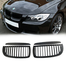 4 Pcs Set Black Front Kidney Grill Grilles for BMW Sedan Wagon E90 E91 M3 05-08