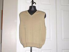 POLO RALPH LAUREN MEN'S L Beige V-Neck Sweater Vest 100% Pima Cotton