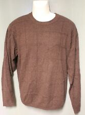 Grayson & Dunn 100% Cashmere Mens Brown Sweater Large L