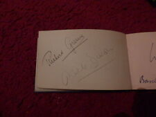 RICHARD GREENE / ANTON WALBROOK ACTORS AUTOGRAPHS