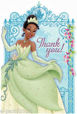 PRINCESS AND THE FROG THANK YOU NOTES (8) ~ Birthday Party Supplies Card