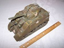 Jayland M4 Sherman Tank - Trench Art Style Tin Plate Decorative vintage art