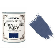 Rust-Oleum Chalk Chalky Furniture Paint Chic Shabby 125ml Ink Blue Matt