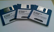 Roland S-550 - Director-S x3 disk set. O/S & Utilities Sampler SYS-553 No Dongle