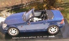 MERCEDES BENZ SLK 320 CABRIOLET 2003 1/43 BLEU ROADSTER