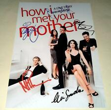 "HOW I MET YOUR MOTHER CAST X5 PP SIGNED 12""X8"" POSTER JASON SEGEL N2"