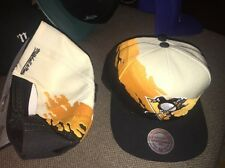 Mitchell & Ness Adult NHL Pittsburgh Penguins Paintbrush Wool Snapback Hat $30