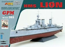 British Cruiser HMS Lion paper model 1:200 huge 105cm