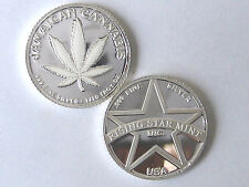 1/10th Troy Oz Pure .999 Solid Silver Jamaican White Dream Cannabis Bullion Coin
