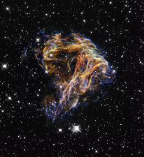SUPERNOVA REMNANT NASA Hubble Space Reproduction Rolled CANVAS PRINT 24x26 in.