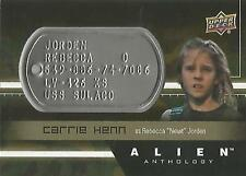 "Alien Anthology - DT-RJ Carrie Henn ""Rebecca"" Space Marine Dog Tag Card"