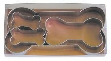 R  M Dog Bone 4 Piece Cookie Cutter Set, New, Free Shipping