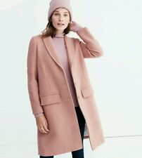 Madewell Teatro Swing Emery Car Coat Pink Old Rose Size 00 NWT