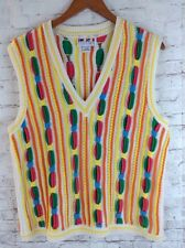 Sweater Clothes Brand Coogi Style Sweater Vest Colorful Large/X-Large