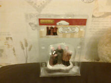 LEMAX 4 CAROL SINGING FIGURINES APPROX 7CM TALL 72403 NEW BOXED