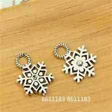 20pc Tibetan Silver Christmas Snowflake Pendant Charms Beads Findings   GP814