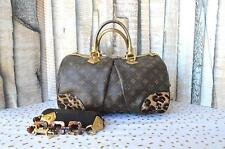 Louis Vuitton Monogram Canvas Leopard Hair Gold Stephen Satchel Purse Tortoise