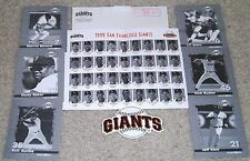 SAN FRANCISCO GIANTS-OFFICIAL GIANTS TEAM SET-1999-J.T. SNOW-MORE-CARDS-STICKER