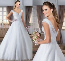 WOMENS V NECK BALL GOWN WEDDING DRESS. BRIDAL GOWN. REGULAR AND PLUS SIZES.