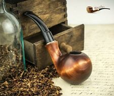 "HAND MADE  WOODEN  TOBACCO SMOKING PIPE   "" Ball ""    with dents"