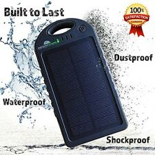 Solar Charger and 12000 Mah Solar Power Bank With BONUS 2-in-1 Charge Cable and