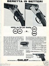 1963 Print Ad of JL Galef Beretta Silver Snipe & Silver Hawk Shotgun better