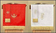 Jacquard Reversible Pulpit Scarf Red And White for Church Service NEW SKU LC026