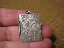 ███►altes Fotomedaillon/800er Silber mit Name  -- um 1900 --