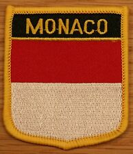 MONACO Shield Country Flag Embroidered PATCH Badge P1
