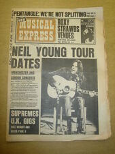NME 1973 JAN 13 NEIL YOUNG PENTANGLE SUPREMES STRAWBS CAT STEVENS CARLY SIMON