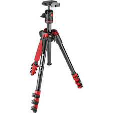 Manfrotto MKBFRA4R-BH BeFree Compact Lightweight Travel Tripod (Red), No Fees!
