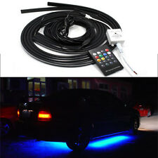 Colorful LED Strip Under Car Tube Underglow Underbody Glow System Neon Light Kit