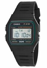 ORIGINALE Casio f91w-3dg Digitale al Quarzo Resistente All'acqua Orologio Da Polso Stile Retrò