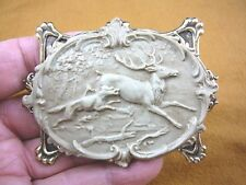 (CL40-2) Dog hunting game race Elk rut DEER Buck gray CAMEO Pin Pendant Jewelry