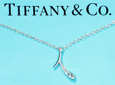 Tiffany & Co Elsa Peretti Alphabet Sterling Silver Letter Initial i Necklace