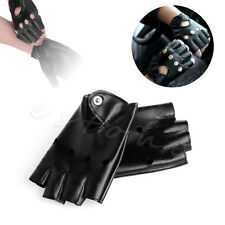 Fashion Women Half Finger Driving Gloves PU Leather Fingerless Guantes Mittens