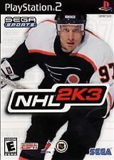NHL 2K3 (Sony PlayStation 2, 2002, Complete)
