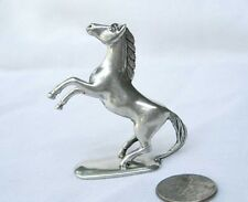 "Vintage Pewter Horse Figurine Statue Metal Figure Base Collectible Animal 2"" H"