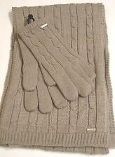 Nine West Colorado Scarf & Glove Set,Grey
