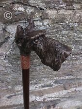 Walking Stick - Cold Cast Bronze 'Scottish Terrier' Handle. Arts & Crafts