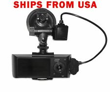 "X3000 Car DVR 2.7"" LCD Dual LENS Digital Video Recorder GSensor  GPS Logger"
