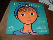 """NANDO GAZZOLO """" PUCCETTINO """" DUE 45 GIRI + LIBRETTO   E.P.   ITALY'56"""