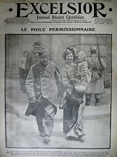WW1 N° 1700 LE POILU PERMISSIONNAIRE CAMPS D'INSTRUCTION BELGES EXCELSIOR 1915