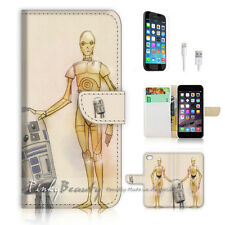 iPhone 7 (4.7') Flip Wallet Case Cover P1750 R2 D2