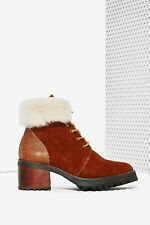 Sabrina Tach Toronto Suede Boots size 37 new in box NASTY GAL
