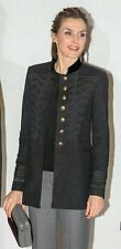 ZARA EMBROIDERED COAT JACKET QUEEN LETIZIA SPAIN BLOGGERS SIZE S SMALL UK 8