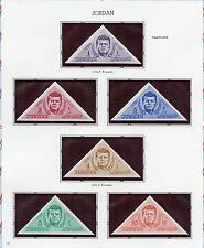 JORDAN JOHN F. KENNEDT IMPERFORATED TRIANGLE STAMPS MINT NH