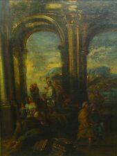 * Sch. of GIOVANNI PAOLO PANINI (Italian, 1691-1765) O/C Classical Scene