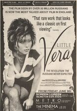 10/6/89Pgn26 Advert: The Most Talked About Film In England 'little Vera' 7x5